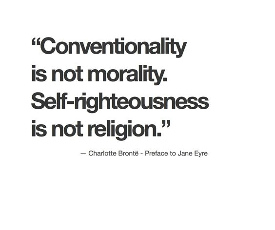 Conventionality is not morality definition essay