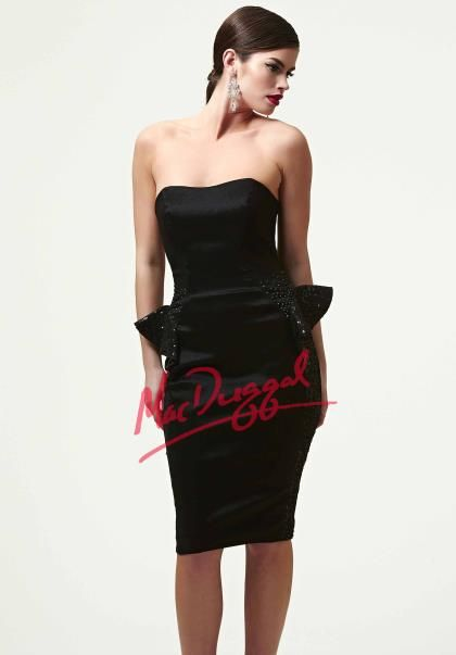 MacDuggal Homecoming Cocktail Dress 76642R at Peaches Boutique