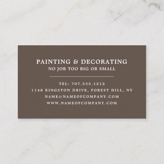 Painting Equipment Painter Decorator Business Card Zazzle Com Decorator Business Card Painter And Decorator Paint Shops
