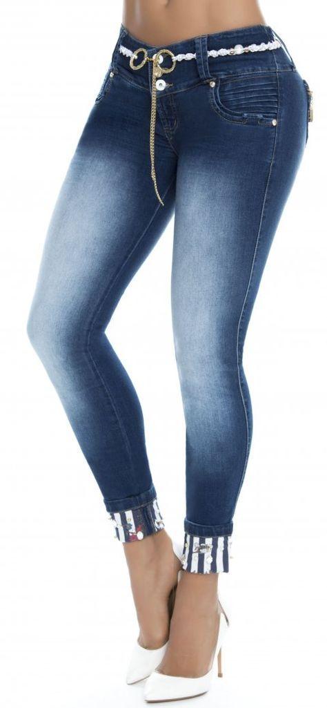 Jeans Levanta Cola Wow 86287 Jeans De Moda Pantalones De Moda Ropa