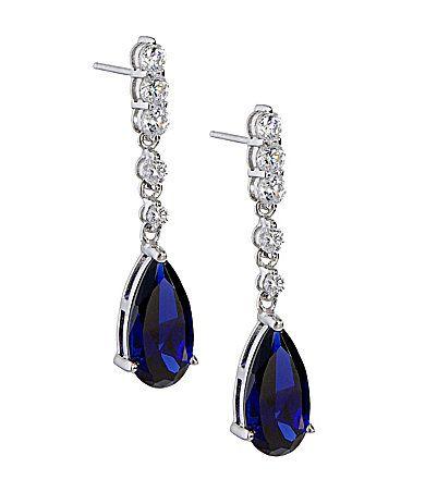 Something Blue... Dillards drop earrings