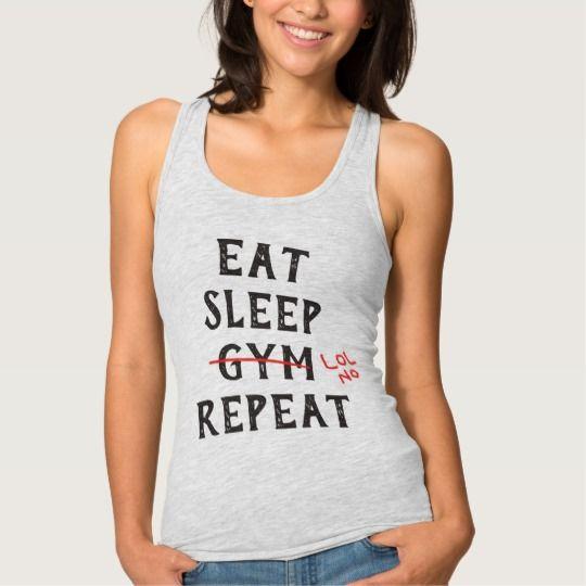 EAT SLEEP GYM Custom Athletic Vest Tank Top