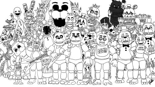 Fnaf Coloring Pages Nightmare