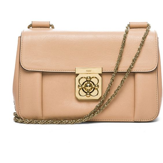 replica chloe elsie beige medium shoulder bag