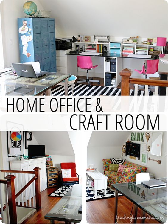 Craft Rooms Home Office And Offices On Pinterest