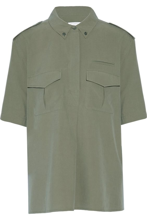 EQUIPMENT Major Washed-Silk Top. #equipment #cloth #top
