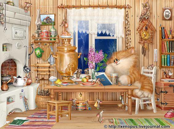 "marinni: Картинки и коты от lj user ""xenopus"":"