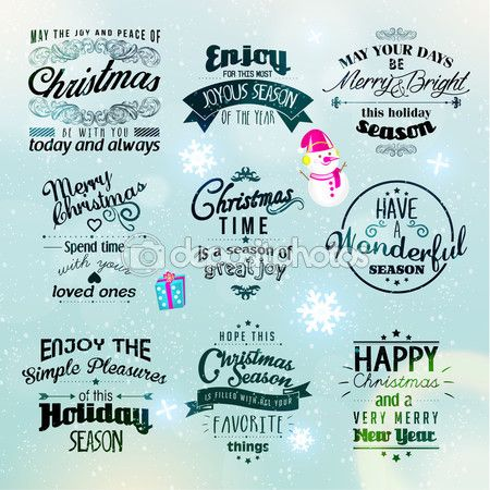 Merry Christmas and Happy New Year Greetings. Vector available in different sizes.