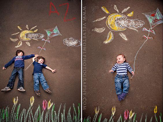 velvet owl photography  children photography chalk session