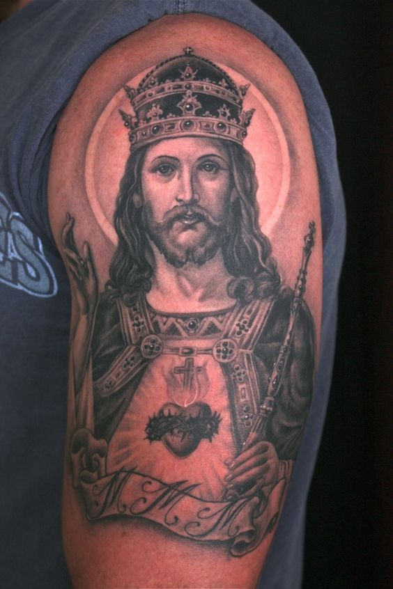 jesus christ tattoo - Google 검색 | 소스 | Pinterest | Heart ...