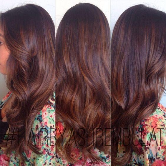 Instagram Analytics. Auburn Balayage Hair