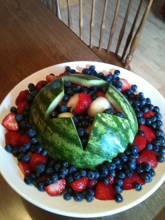 July th watermelon basket fruit carving
