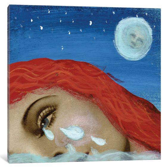 'Pool on Tears' by Ellen Weinstein Painting Print on Wrapped Canvas