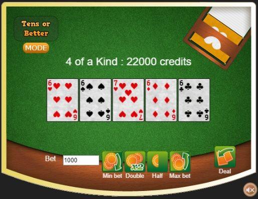 video poker bitcoin
