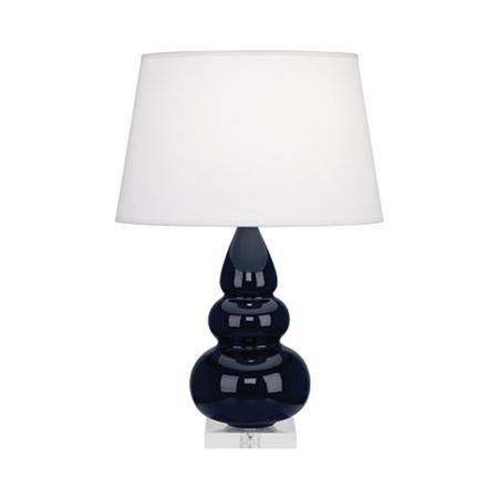 Sassy Ceramic Table Lamp - Lucite Base