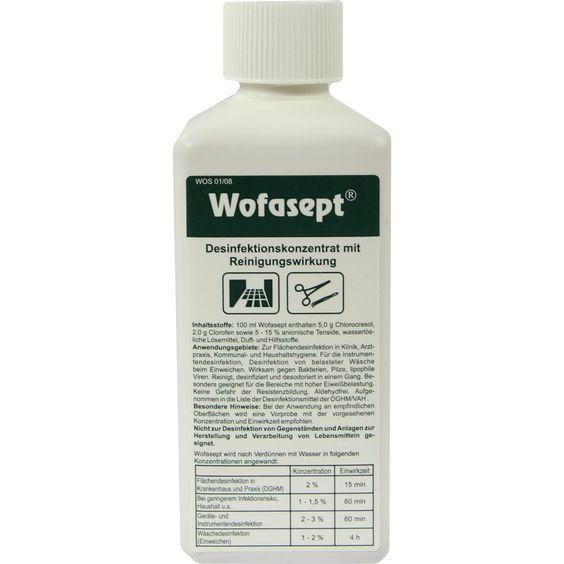 #WOFASEPT Instrumenten- und Flächendesinfektion rezeptfrei im Shop der pharma24 Apotheken
