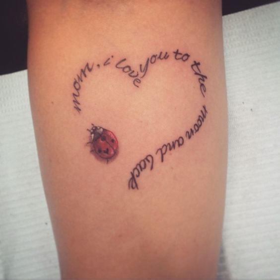 I Love You More Tattoos: Ladybugs, Love You More Than And Aunt Tattoo On Pinterest