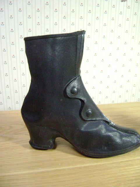 Vintage Boots, Granny Go Gos, Rubber Victorian Galoshes, Deadstock ...
