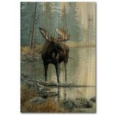 Found it at Wayfair - Quiet Water Moose Painting Print on Wood