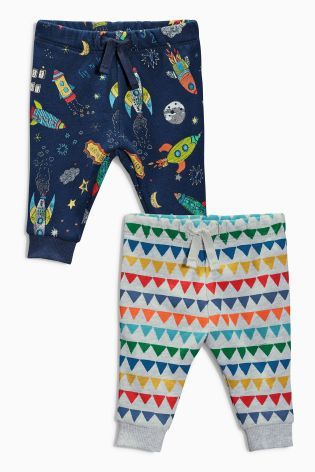 Buy Two Pack Printed Joggers (0-18mths) online today at Next: United States of America