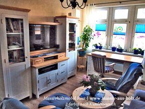 Massivholz Möbel 2-farbig  | www.massiv-aus-holz.de