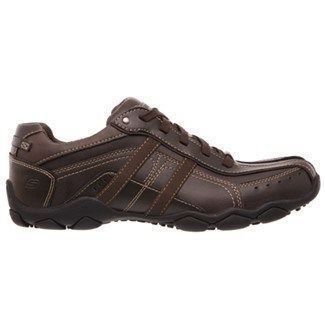 Skechers Men's Diameter Murilo Memory Foam Sneakers (Brown Leather)