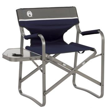 Coleman 174 Aluminum Deck Chair With Side Table Camping