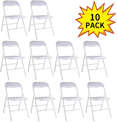 Buy Jaxpety New 10pk Commercial White Plastic Folding Chairs Stack Able Wedding Party Chair W Soft Cushion White Online Prettytoppro In 2020 Plastic Folding Chairs Plastic Chair Folding Chair