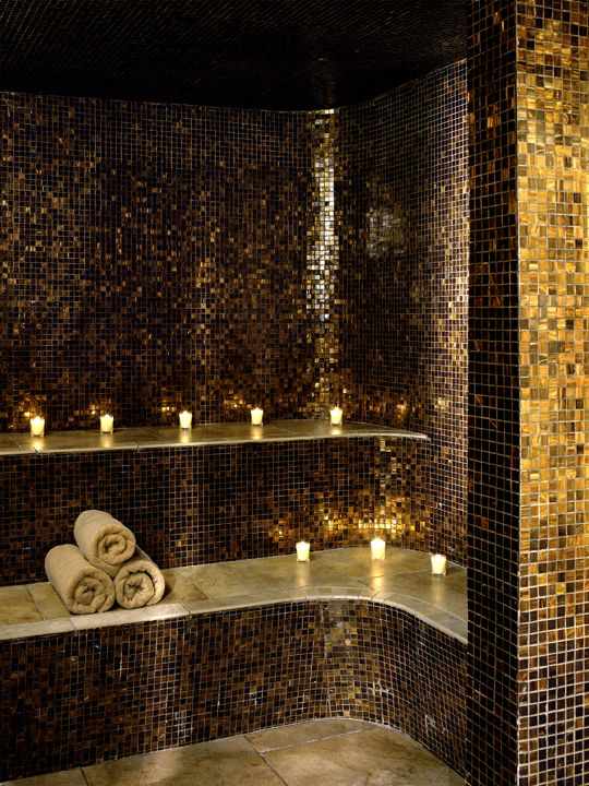 my dream house will have a steam room like this basement spa