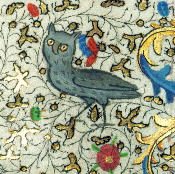 owl  book of hours, Hainaut ca. 1450-60  Baltimore, Walters Art Museum, Ms. W.267, fol. 179v Discarding Images: