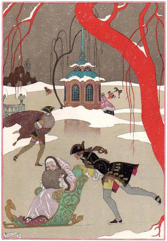Georges Barbier (1882-1932) — 'Les Fêtes Galantes' by Paul Verlaine, 1921 (649×936):