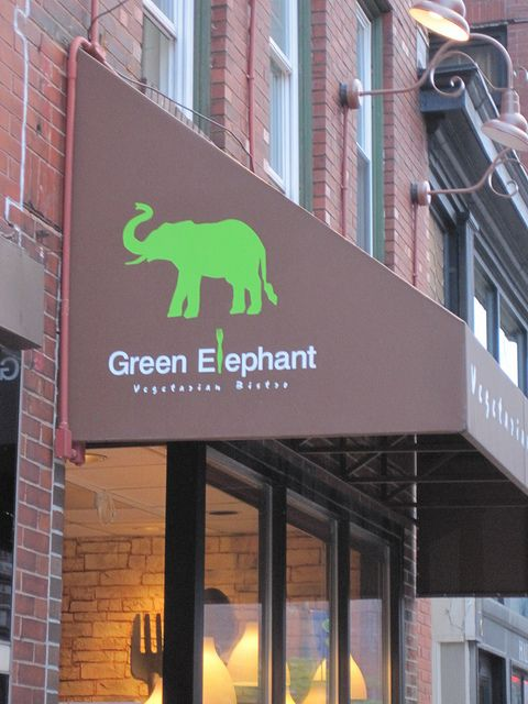I miss Portland! I miss Miss Portland! I don't think the Green Elephant was there when I was, but then we weren't eating vegan meals then.