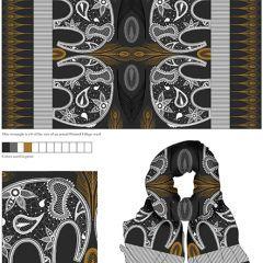 I LOVE twiga's Scarf Design for @PrintedVillage