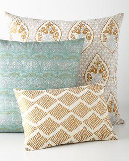 -69EU John Robshaw  Selena Lumah European Pillow Selena Jamrah Pillow Selena Sharak Lumbar Pillow