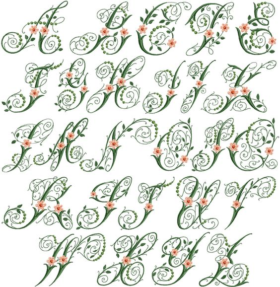 Victoria flowers font fonts lettering printables fun art