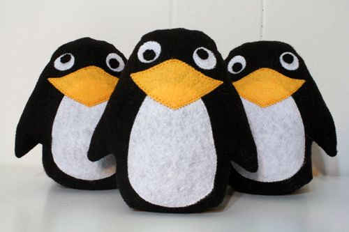 Пингвины - Бесплатный шаблон и шаг за шагом фото учебник - Bildanleitung унд бесплатно Schnittvorlage