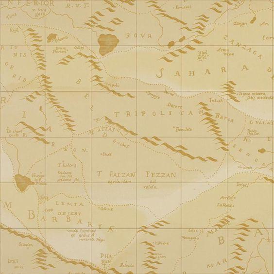 Product: LWP60735W-Desert Map