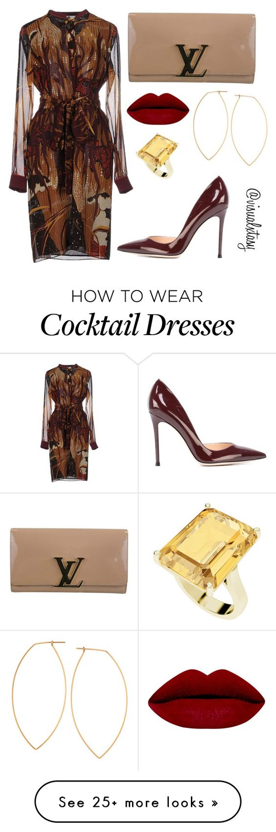 """""""Slight Work II"""" by visualxtasy on Polyvore featuring Gucci, By Philippe, Gianvito Rossi, StyleRocks, Louis Vuitton, women's clothing, women's fashion, women, female and woman"""