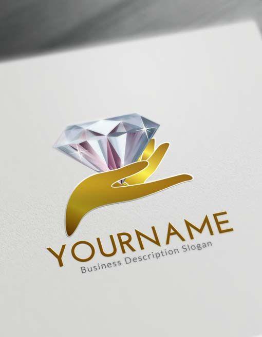 Online Hands Diamond Logo Creator Free Logo Maker Diamond Logo