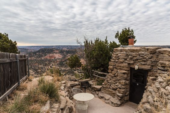 This cabin in Palo Duro Canyon State Park in Texas was the perfect home away from home! #roadesque From Roadesque.