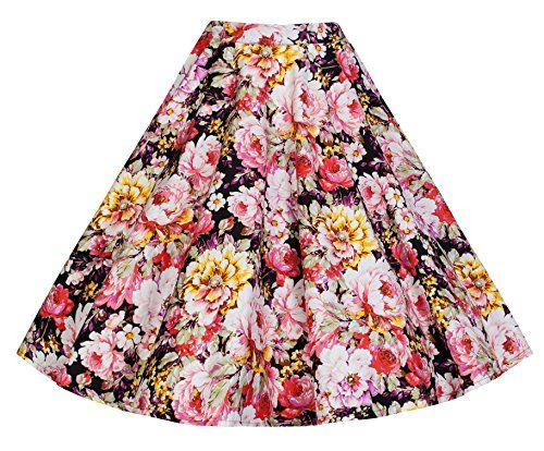 Lindy Bop 'Peggy' Vintage 50's Style Floral Full Circle Skirt (XS, Black Pink) Lindy Bop http://www.amazon.com/dp/B00NSOI1H4/ref=cm_sw_r_pi_dp_e.t0vb015T991