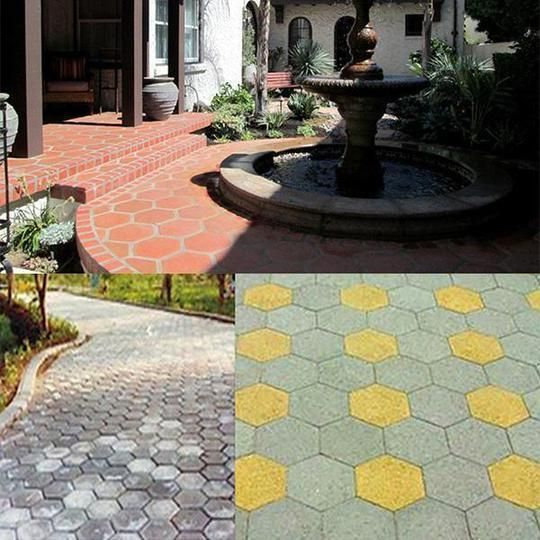 2019 Amenitee Paving Mould Easy Path Patio Building Tool Cothe House Floor Molding Vintage Garden Decor Garden Paths
