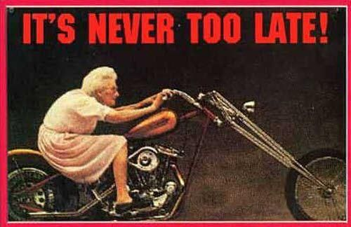 Genau! Es ist niemals zu spät! - http://www.juhuuuu.com/2013/12/27/genau-es-ist-niemals-zu-spaet/