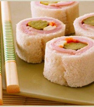 Un sándwich sushi muy divertido para niños