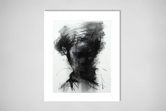 "Saatchi Online Artist: KwangHo Shin; Charcoal, 2013, Drawing ""[105] untitled charcoal on canvas 53.2 x 41 cm 2013 [SOLD]"""