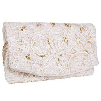 Girly white lace clutch perfect for ladylike looks