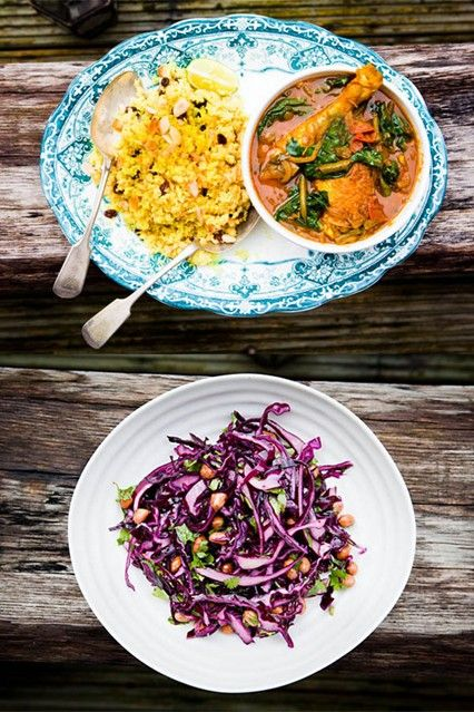 Hemsley And Hemsley Chicken Curry With Cauliflower Rice (Vogue.com UK)