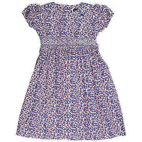 Buy Question Everything Girls' Juno Kaleidoscope Dress, Blue/Multi Online at johnlewis.com