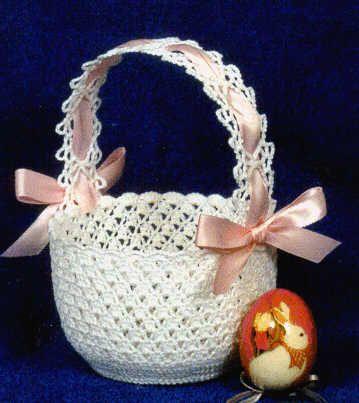 Free Crochet Pattern For Easter Basket : knit pattern for easter baskets crochet easter basket ...