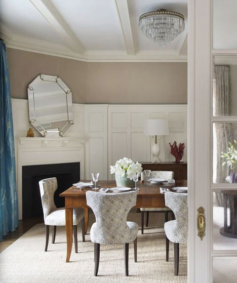 Dining Rooms Dream: Tall Wainscotting For The Dining Room. Love The Color Of